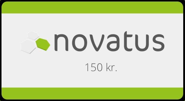 Skriv om novatus.eu og få et gavekort på 150kr.
